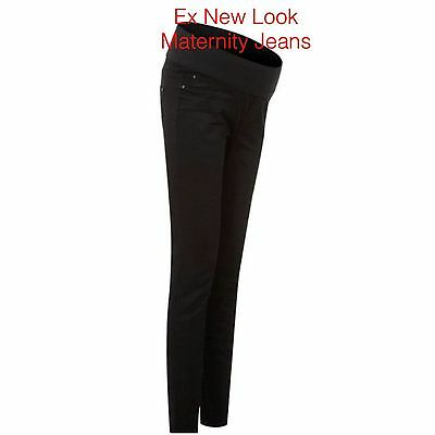 Maternity JEANS BLACK ex NEW LOOK Skinny Jeans Under The Bump  8 10 12 14 1618