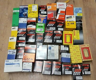 Wholesale Job lot of oil and fuel filters, all brand new all in boxes FRAM MAHLE