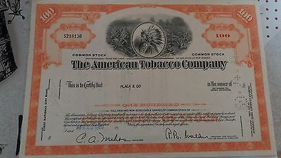 """The American Tobacco Company"" shares dated 1969"