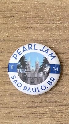 Pearl Jam - Latin America Tour Sao Paulo Brazil Eddie Vedder Pin Button Badge