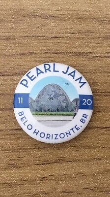 Pearl Jam Latin America Tour Belo Horizonte Brazil Eddie Vedder Pin Button Badge