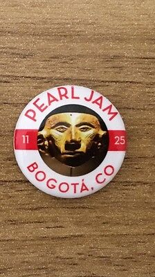 Pearl Jam - Latin America Tour Bogota Colombia Eddie Vedder Pin Button Badge New