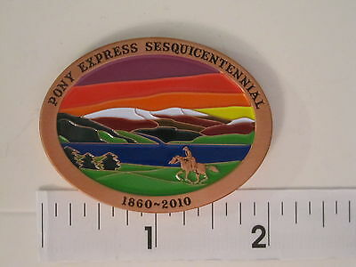 Pony Express Sesquicentennial commemorative geocoin - Activated/Adoptable ~ 2010