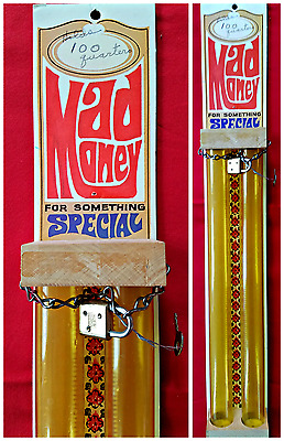 Vtg 1974 MAD MONEY for Something Special Wall Bank Coin Catchers Vegas Lock Key