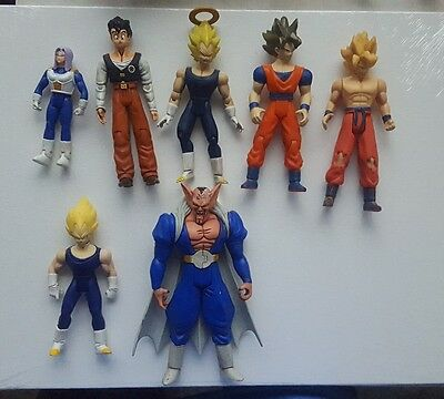 Dragonball Z DBZ Action Figure Lot ss vegeta goku ss gohan and more iwrin used