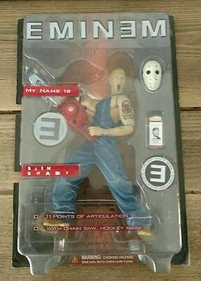 Bnib Very Rare Eminem Figure My Name Is Slim Shady Boxed Art Asylum 2001
