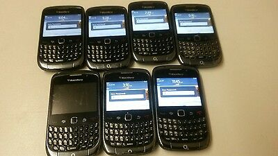 Joblot Of 7 Working Blackberry 9300 Mobile Phones