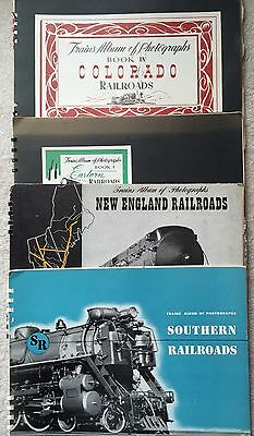 Vintage Trains Album of Photographs 4 Spiral books 1940's Railroadiana #1,4,5,6