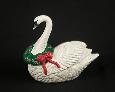 Sitting Swan with Wreath Beautiful Knick Knack Figure