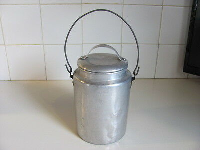 Vintage Pure Aluminum Co. One Quart Cream Can With Bail Handle