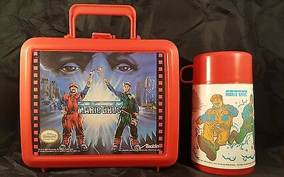 Mario Brothers Movie Lunchbox 1993 In Excellent Condition Complete With Thermos!