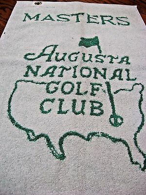 Augusta National Masters Golf Bag Towel Mint Condition
