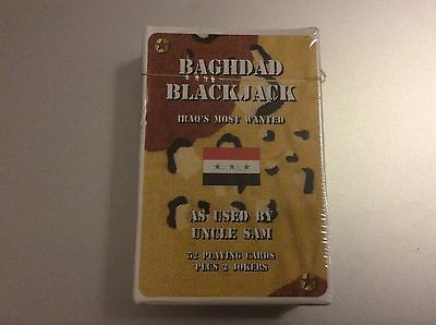 Baghdad Blackjack - Gulf War Playing Cards - New and Sealed