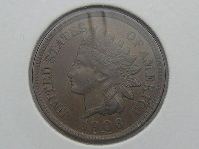 1906 Indian Head Cent - Rich LUSTROUS Brown - Gorgeous Coin!