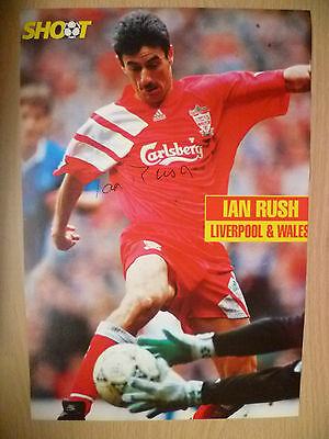 IAN RUSH at Liverpool FC (100% Genuine Hand Signed Press Cutting)