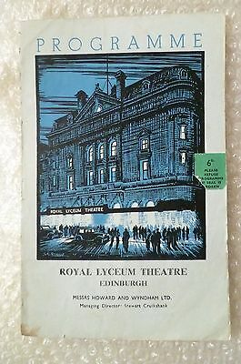 1957 Royal Lyceum Theatre Programme MURDER ON THE NILE by Agatha Christie