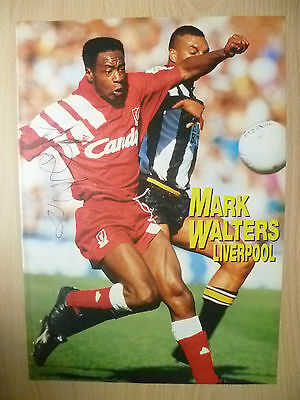 Original Signed Press Cutting- MARK WALTERS at Liverpool FC (apx. A4 )