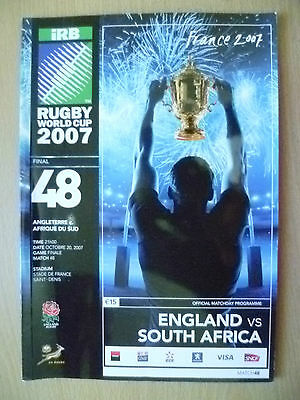 2007 Rugby World Cup FINAL- ENGLAND v SOUTH AFRICA, 20 Oct (Org, Exc*)