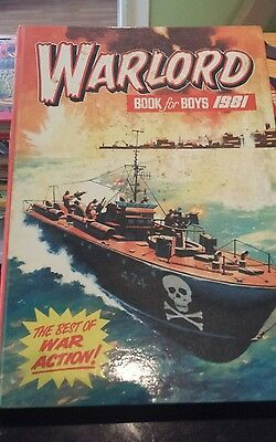 WARLORD ANNUAL BOOK FOR BOYS ANNUAL 1981 Excellent Condition