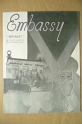 Embassy Theatre 1935- RIVALS by J. R. Monsell~ Sheridan's Famous Play
