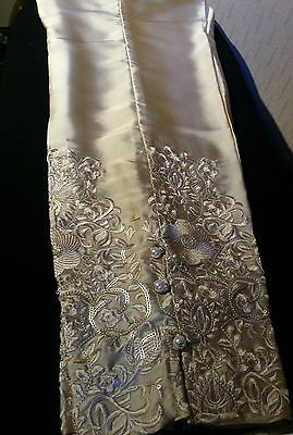 pakistani silk gold embroided trouser. Size S