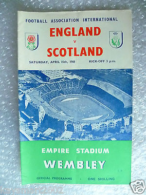 1961 ENGLAND v SCOTLAND, 15th April (Home International Match)