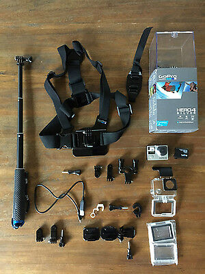 GOPRO HERO 4 Silver (NEW) + Ultimate Accessories Bundle + Extra Battery