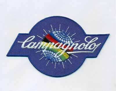 New Campagnolo World globe logo embroidered patch, iron on