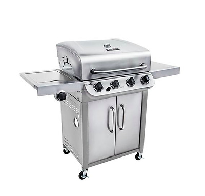 Top Quality Char-Broil Stainless Steel | 4-Burner Barbecue/BBQ with Cabinet