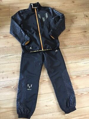 ADIDAS MESSI TRACKSUIT 11-12 YEARS VGC CLIMALITE 152 Cm JOGGERS BOTTOMS JACKET