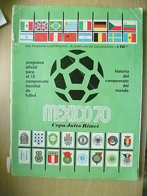 1970 Mexico World Cup Final Official Programme Original (242 Page Green issued)