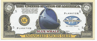 2005 $1,000,000 Endangered Species Series Blue Whale