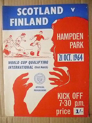 1964 World Cup Qualifying International- SCOTLAND v FINLAND, 21 Oct(Org*, VG)