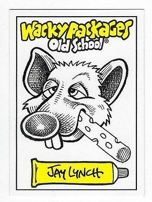 2009 Wacky Packages Old School Series 1 ARTIST SKETCH CARD J. Lynch CHEDDARFIELD