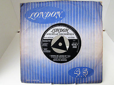 """Marilyn Monroe """"I Wanna Be Loved By You"""" 45 RPM Single - London Label -VGC 4 Age"""