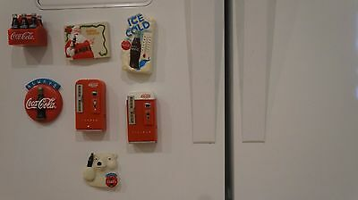 Lot of 7 Vintage Coke Refrigerator Maganets