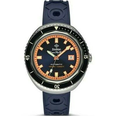Zodiac ZO9504 Super Sea Wolf 68 Automatic Swiss Movement Rubber Strap Watch