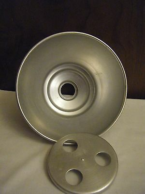 Brushed Aluminum Milk Strainer  Holds 6 Inch Disc 1980's