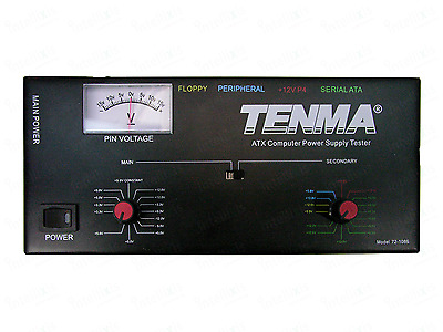 Tenma Deluxe Computer ATX Power Supply Tester Rugged Steel Housing. 72-1086 New