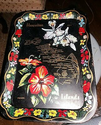 Vintage Souvenir State of Hawaiian Tray Metal