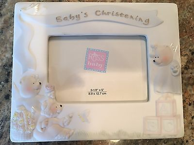 Blue Baby Christening Photo Frame By Russ NEW