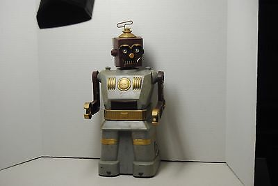 Electric Robot and Son-Marx Toys 1950's RARE Maroon and Grey - Parts or Repair