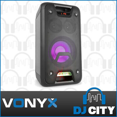 Vonyx Play800 Portable LED Bluetooth Party Karaoke Speaker w/ Mic & Guitar Input