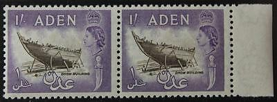 Aden #55, MNH OG High Value Pair, Never Hinged