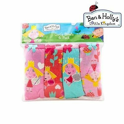 Ben & Holly's Little Kingdom Girl's 4 Pack Briefs Set 100% Cotton New with Tags