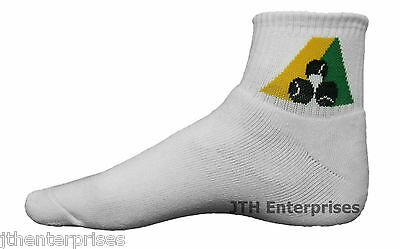 Superior Bamboo Ped Short Crew Length Socks Bowls Australia Approved     3 Sizes