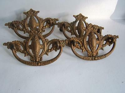 4 Antique Victorian Ornate Drawer Dresser Handles Pulls All Matching