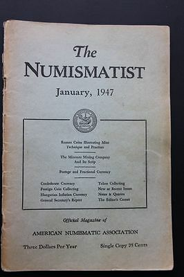 The Numismatist vol 60 no 1 Jan 1947 ANA American Numismatic Association