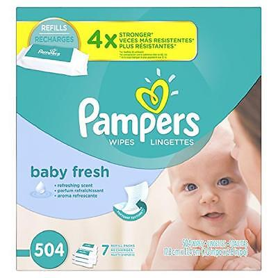 Baby Wipes Pampers Fresh Refill Refreshing Hypoallergenic Babies Night Clean NEw