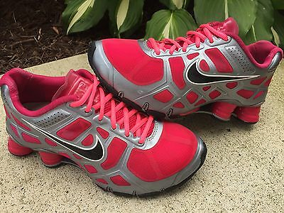 Nike Shox Turbo Womens Size 7 US Running Athletic Shoes Gray Pink